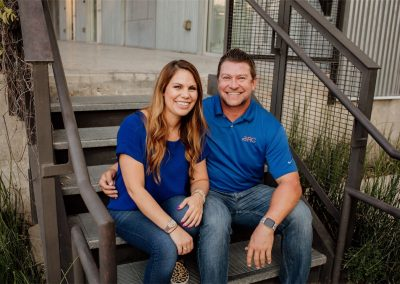 Brandy Tilley and Johnny Dolan of Dolan Roofing San Antonio