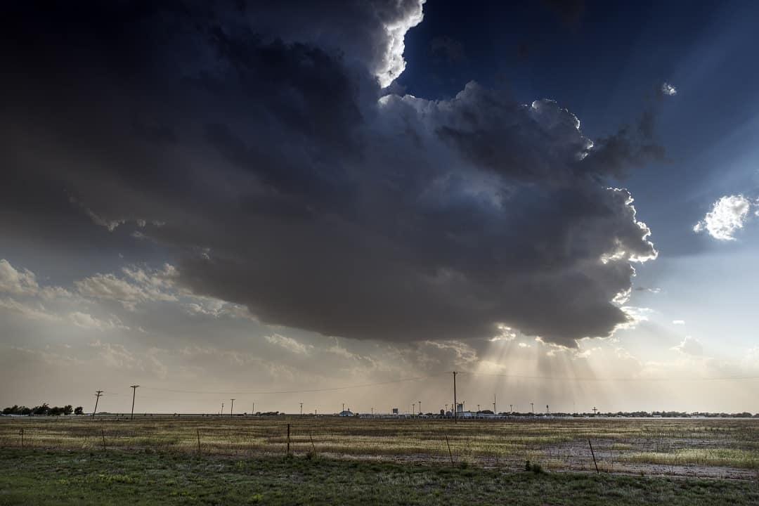 storm clouds over a Texas landscape