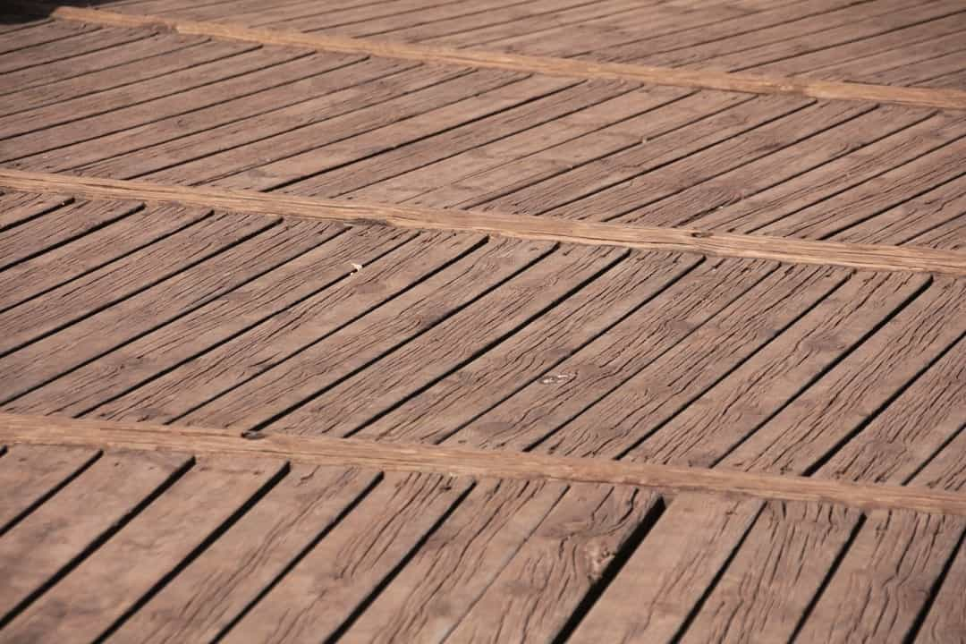 the surface of a brand new deck
