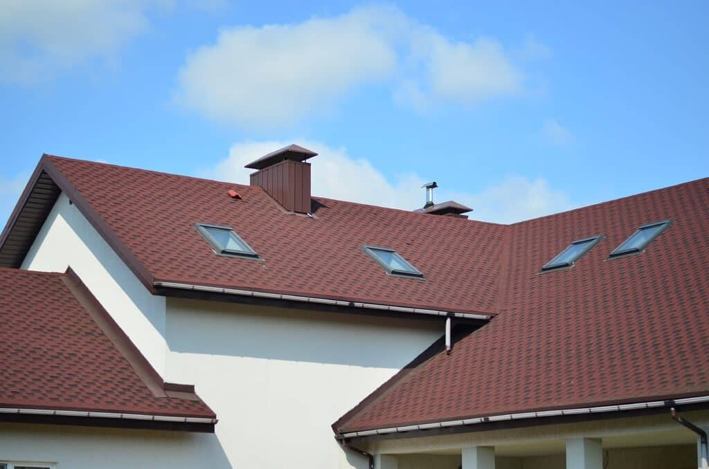 a newly installed tile roof