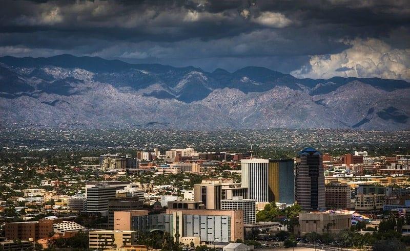 monsoon storms loom over Tucson skyline